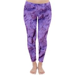 Purple Wall Background Winter Leggings  by Costasonlineshop