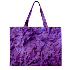 Purple Wall Background Zipper Tiny Tote Bags by Costasonlineshop