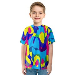 Colorful Chaos Kid s Sport Mesh Tee by LalyLauraFLM