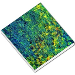 Flowers Abstract Yellow Green Small Memo Pads by Costasonlineshop