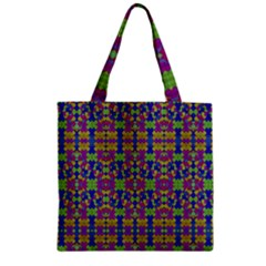 Ethnic Modern Geometric Pattern Zipper Grocery Tote Bags by dflcprints
