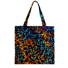 Colorful Seashell Beach Sand, Zipper Grocery Tote Bags by Costasonlineshop