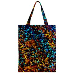 Colorful Seashell Beach Sand, Zipper Classic Tote Bags by Costasonlineshop
