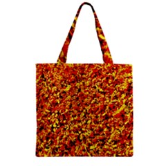 Orange Yellow  Saw Chips Zipper Grocery Tote Bags by Costasonlineshop