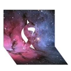 Trifid Nebula Ribbon 3d Greeting Card (7x5)  by trendistuff