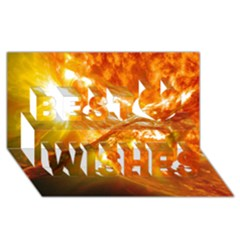 Solar Flare 2 Best Wish 3d Greeting Card (8x4)  by trendistuff