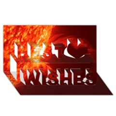 Solar Flare 1 Best Wish 3d Greeting Card (8x4)  by trendistuff