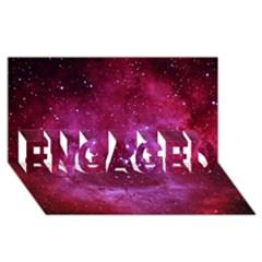 Rosette Nebula 1 Engaged 3d Greeting Card (8x4)  by trendistuff