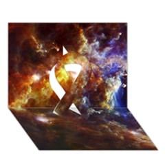 ROSETTE CLOUD Ribbon 3D Greeting Card (7x5)  by trendistuff