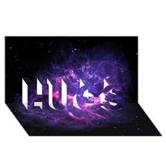 Pia17563 Hugs 3d Greeting Card (8x4)