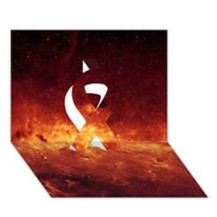 Milky Way Clouds Ribbon 3d Greeting Card (7x5)  by trendistuff