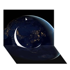 Global Night Circle 3d Greeting Card (7x5)  by trendistuff