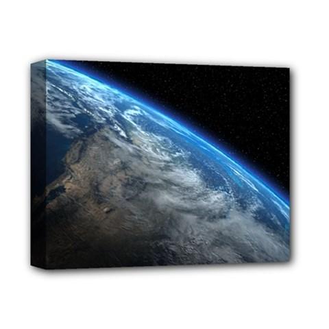 EARTH ORBIT Deluxe Canvas 14  x 11  by trendistuff