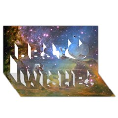 Eagle Nebula Best Wish 3d Greeting Card (8x4)  by trendistuff