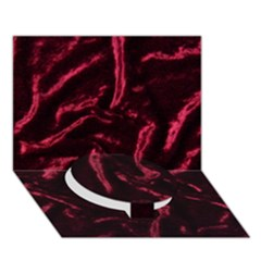 Luxury Claret Design Circle Bottom 3d Greeting Card (7x5)  by Costasonlineshop