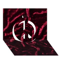 Luxury Claret Design Peace Sign 3d Greeting Card (7x5)  by Costasonlineshop