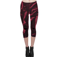 Luxury Claret Design Capri Leggings by Costasonlineshop