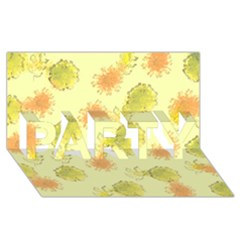Shabby Floral 1 Party 3d Greeting Card (8x4)  by MoreColorsinLife