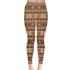 Southwest Design Tan and Rust Women s Leggings by SouthwestDesigns