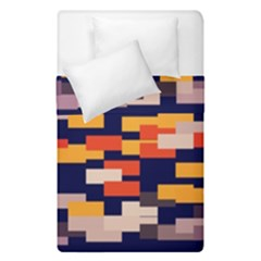 Rectangles In Retro Colors  Duvet Cover (single Size) by LalyLauraFLM