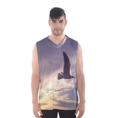 Fly Seagull Men s Basketball Tank Top