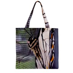 Butterfly 1 Zipper Grocery Tote Bags by Jamboo