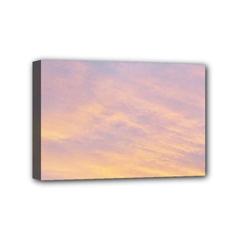 Yellow Blue Pastel Sky Mini Canvas 6  X 4  by Costasonlineshop
