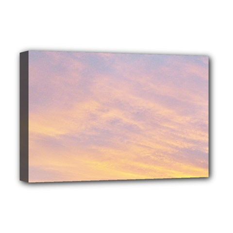 Yellow Blue Pastel Sky Deluxe Canvas 18  X 12   by Costasonlineshop