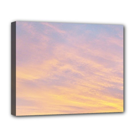 Yellow Blue Pastel Sky Deluxe Canvas 20  X 16   by Costasonlineshop