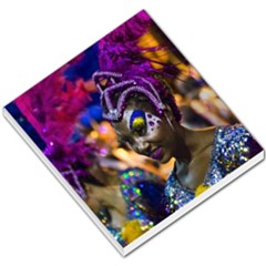 Costumed Attractive Dancer Woman At Carnival Parade Of Uruguay Small Memo Pads by dflcprints