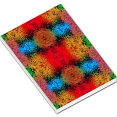 Colorful Goa   Painting Large Memo Pads by Costasonlineshop