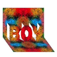 Colorful Goa   Painting Boy 3d Greeting Card (7x5) by Costasonlineshop
