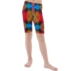 Colorful Goa   Painting Kid s Mid Length Swim Shorts by Costasonlineshop