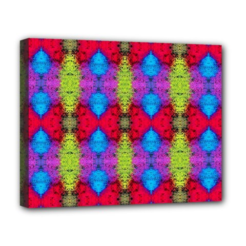 Colorful Painting Goa Pattern Deluxe Canvas 20  X 16   by Costasonlineshop