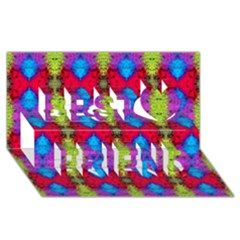 Colorful Painting Goa Pattern Best Friends 3d Greeting Card (8x4)  by Costasonlineshop