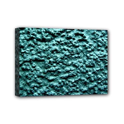 Green Metallic Background, Mini Canvas 7  X 5  by Costasonlineshop