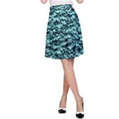 Green Metallic Background, A Line Skirt by Costasonlineshop