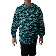 Green Metallic Background, Hooded Wind Breaker (Kids)