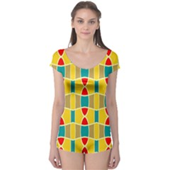 Colorful chains pattern Boyleg Leotard (Ladies)
