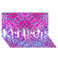 Ethnic Tribal Pattern G327 Believe 3d Greeting Card (8x4)  by MedusArt