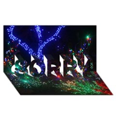 CHRISTMAS LIGHTS 2 SORRY 3D Greeting Card (8x4)  by trendistuff