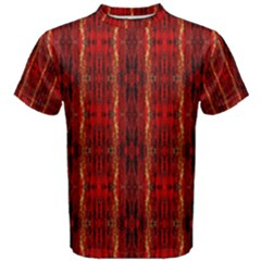 Red Gold, Old Oriental Pattern Men s Cotton Tees by Costasonlineshop