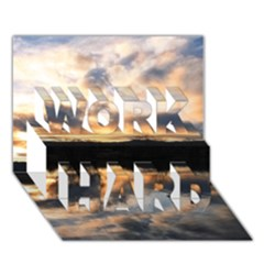 Sun Reflected On Lake Work Hard 3d Greeting Card (7x5)  by trendistuff