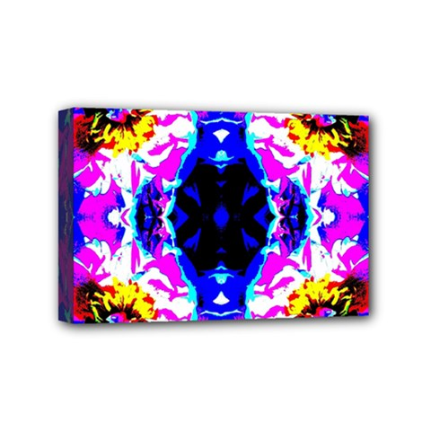 Animal Design Abstract Blue, Pink, Black Mini Canvas 6  X 4  by Costasonlineshop
