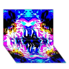 Animal Design Abstract Blue, Pink, Black You Are Invited 3d Greeting Card (7x5)  by Costasonlineshop