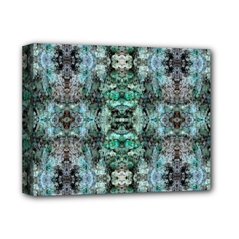 Green Black Gothic Pattern Deluxe Canvas 14  X 11  by Costasonlineshop