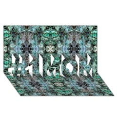 Green Black Gothic Pattern #1 Mom 3d Greeting Cards (8x4)  by Costasonlineshop