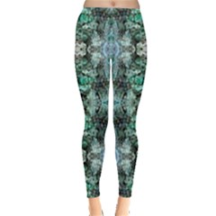 Green Black Gothic Pattern Women s Leggings by Costasonlineshop