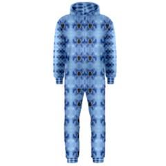 Pastel Blue Flower Pattern Hooded Jumpsuit (men)  by Costasonlineshop
