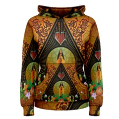 Surfing, Surfboard With Flowers And Floral Elements Women s Pullover Hoodies by FantasyWorld7